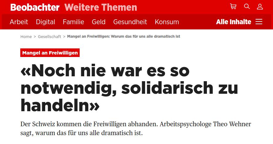 T. Wehner im Beobachter
